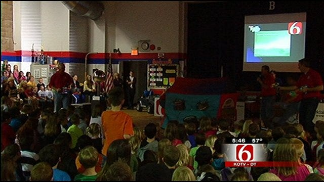 Trav's Wild Weather Camp Invades Bixby Elementary