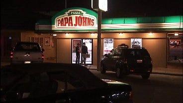 WEB EXTRA: Video From Scene Of Papa John's Pizza Robbery