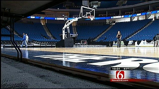 BOK Center Preps For NCAA Tournament