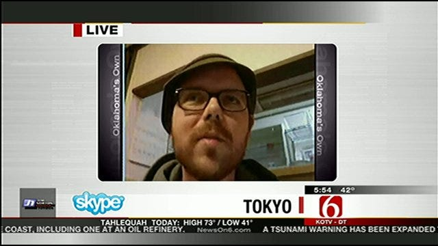 WEB EXTRA: Former Tulsan, Now Living In Tokyo, Talks About Earthquake