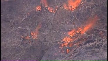 WEB EXTRA: SkyNews6 Flies Over The Creek County Grass Fire