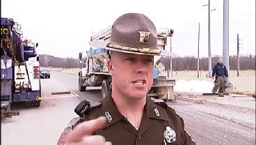 WEB EXTRA: OHP Trooper Russ Stritling Talks About Overturned Truck At Port