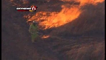 WEB EXTRA: See The Flames From SkyNews6