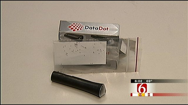 Tulsa Police Using 'Data Dots' To Help Track Stolen Property