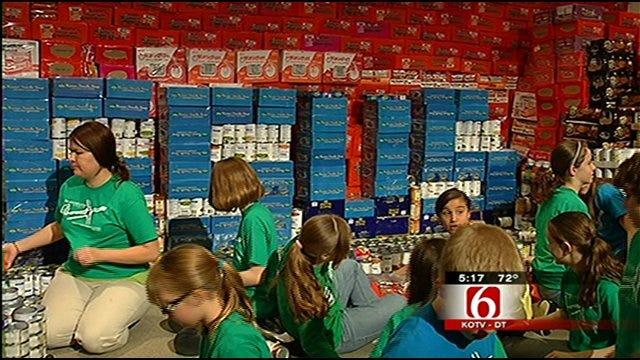 Tulsa Sixth Graders Raise 17,000 Pounds Of Food