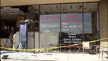 WEB EXTRA: Six Injured When Truck Crashes Into Tulsa Insurance Office