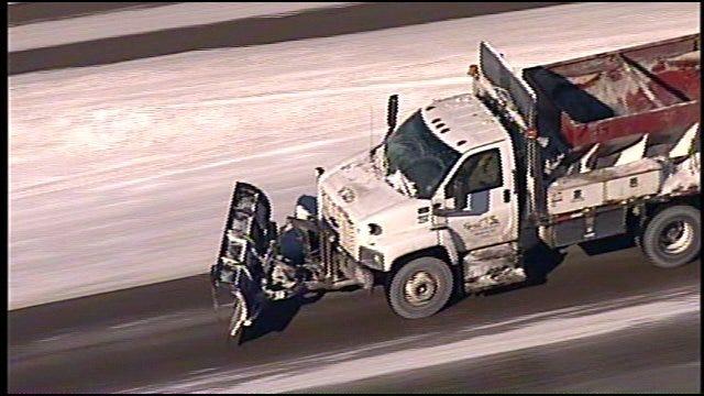 SkyNews 6: Tulsa Police Slow Traffic On U.S. Highway 169 Because Of Ice