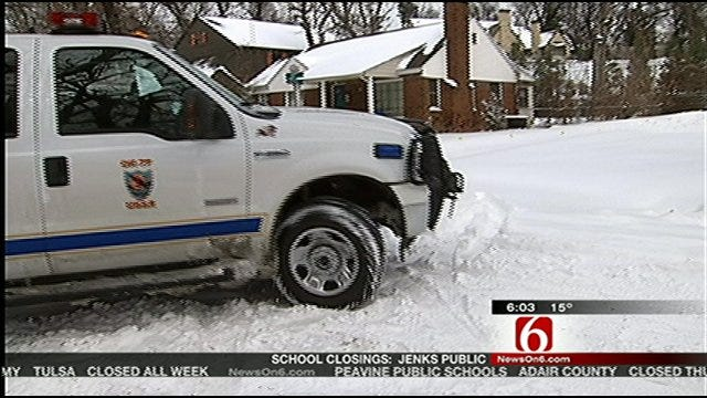 Tulsa Police On Snow Patrol