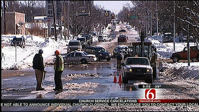 More Than 30 Water Main Breaks Across Tulsa Have Crews Busy