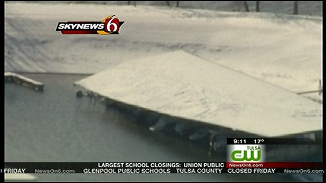 Marina Owners Survey Snow Damage At Grand Lake