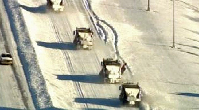 SKYNEWS 6: Snow Plows Clear The Road - Highway 169