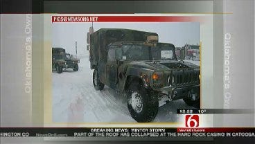 WEB EXTRA: National Guard Activated To Rescue Stranded Drivers