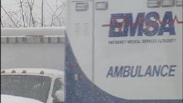 Emergency Responders Battle Road Conditions In Tulsa-Area