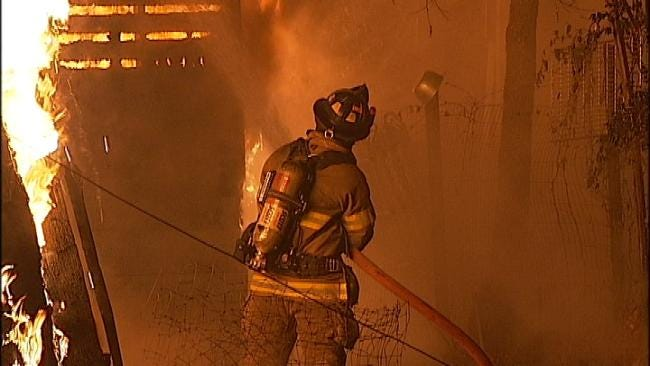 WEB EXTRA: Video From Scene Of Oakhurst Vacant House Fire