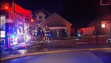 WEB EXTRA: Video From Scene Of Broken Arrow House Fire Early Tuesday