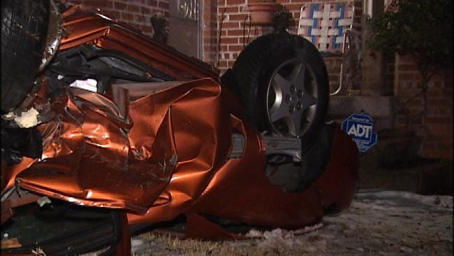 Possible Drunk Driver Crashes Into Four Tulsa Cars