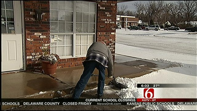 Northeast Oklahoma Digs Out From Snowstorm