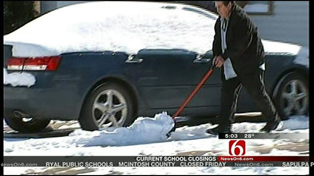 Snowstorm Good For Green Country School Kids, Bad For Businesses