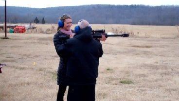 WEB EXTRA: News On 6 Anchor Tara Vreeland At The Gun Range