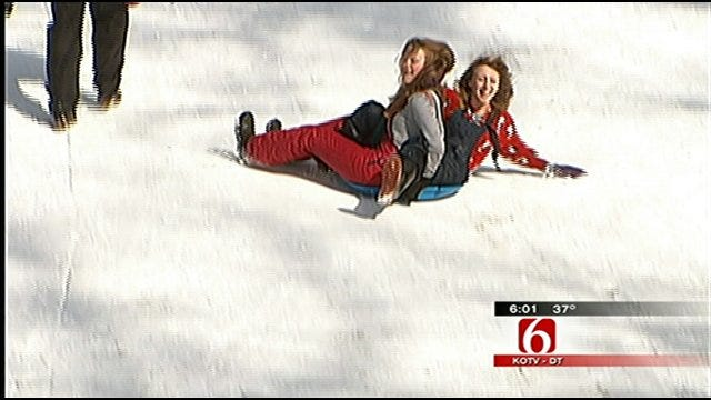 Snow Days Fun For Tulsa-Area Kids, Not Fun For Some Parents