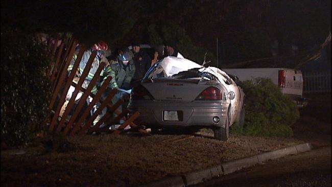 WEB EXTRA: Video From Scene Of Fatal Tulsa Car Crash