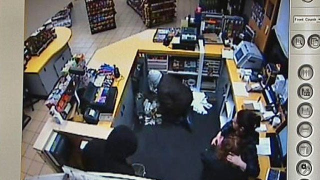 WEB EXTRA: Surveillance Video Of Fiesta Mart Robbery (Contains Profanity)