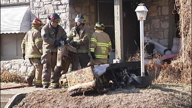 Tulsa Firefighters Rescue Two Family Pets In Duplex Fire