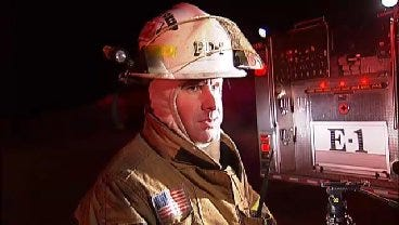 WEB EXTRA: Sand Springs Fire Assistant Chief Mike Wood Talks About House Fire