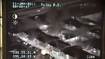 WEB EXTRA: Tulsa Police Capture Chase From The Sky Part 2