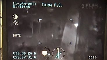WEB EXTRA: Tulsa Police Capture Chase From The Sky