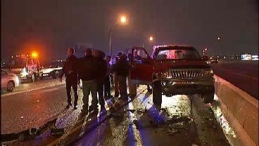 WEB EXTRA: Video From The Scene Of The Six-Car Pileup