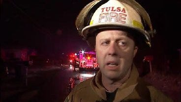 WEB EXTRA: Tulsa Fire District Chief Eddie Bell Talks About House Fire