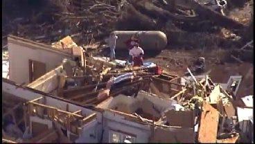 SkyNews 6: View Of Storm Damage In And Around Cincinnati, Arkansas