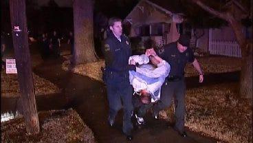 WEB EXTRA: Tulsa Police Take Hit And Run Suspect Into Custody