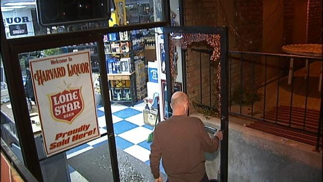 WEB EXTRA: Video From Scene Of Tulsa Liquor Store Burglary