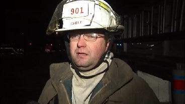 WEB EXTRA: Turley Fire Chief Talks About Structure Fire