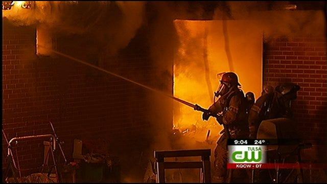 Tulsa Firefighters Battle House Fire, Find Meth Lab