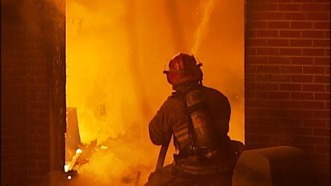 Tulsa Firefighters Battle Full Engulfed House Fire