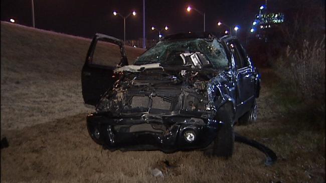 Driver, Passenger Survive Tulsa Rollover Wreck