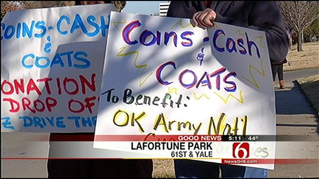 Tulsa 912 Project Collecting Coins, Cash And Coats For Families In Need