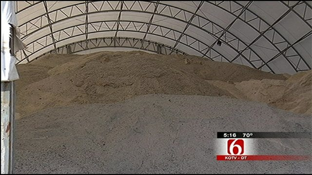 Tulsa Sand, Salt Reserve Ready For Winter Weather