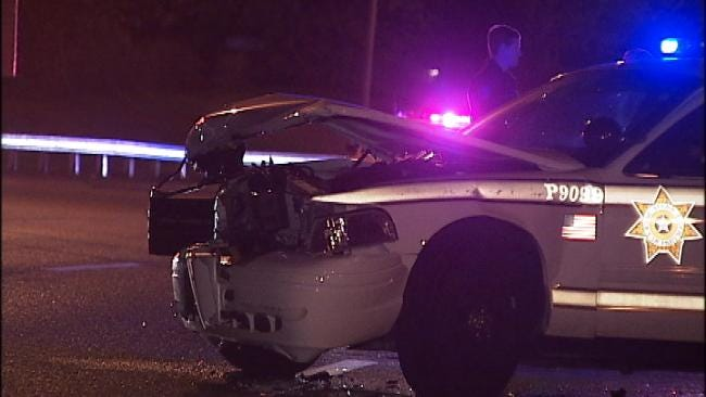 WEB EXTRA: Video Of Tulsa Police Patrol Wreck