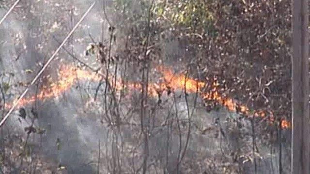 SkyNews6 Flies Over Sapulpa Area Grassfire