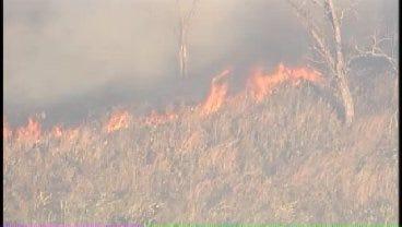 WEB EXTRA: SkyNews6 Flies Over Grass Fire In Washington County