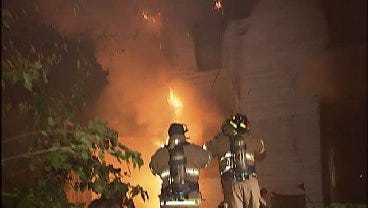 WEB EXTRA: Video Of Scene From Tulsa House Fire