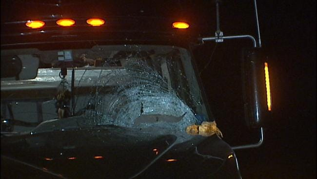 WEB EXTRA: Video From The Scene Of Pumpkin Into Truck Cab