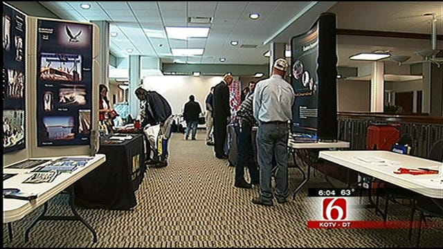 Veterans Look For Work At Broken Arrow Job Fair