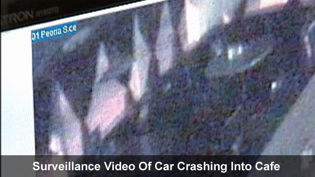 WEB EXTRA: Watch Surveillance Video Of Car Into Cafe