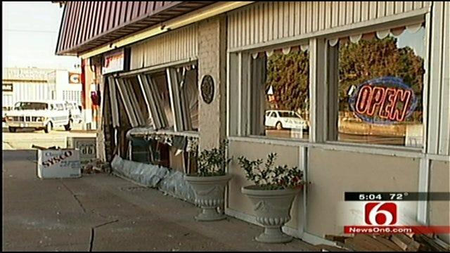 Car Crashes Into Popular Tulsa Cafe
