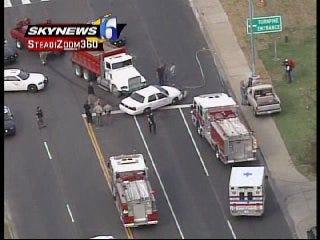 WEB EXTRA: SkyNews6 Flies Over Sapulpa Crash Scene